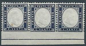 1862-REGNO-EFFIGIE-20-CENT-VARIETa-NON-DENTELLATO-IN-BASSO-MNH-ED368