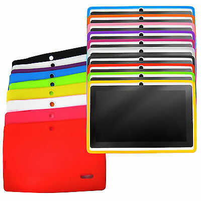 "10 Color 7"" Dual Camera Q88 Q8 Google Android A13 Tablet PC Silicone Case Cover"