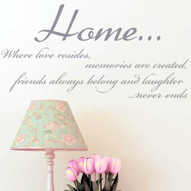 Wall Sticker Quote -  Home Family Friends Livingroom Hallway Kitchen Decal Art