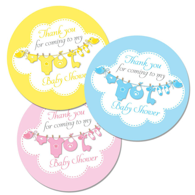 Thank You For Coming To My Baby Shower Stickers 60mm In Diameter