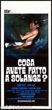 COSA AVETE FATTO A SOLANGE? (2° TIPO) LOCANDINA CINEMA FILM GIALLO 1972 PLAYBILL