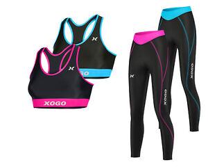 Senoras-Sujetador-Deportivo-Para-Mujer-Compresion-Capa-Base-Top-Mallas-de-Yoga-Gimnasia-Deportes