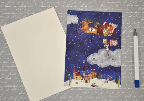 26 Motive zur Auswahl Adventskalender Karte mit Umschlag Kinder und Erwachsene