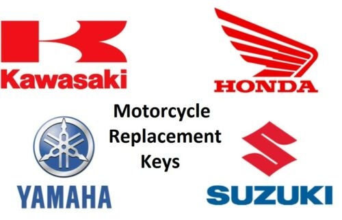 Suzuki Motorcycle Keys Cut to Code Replacement New Ignition  Key