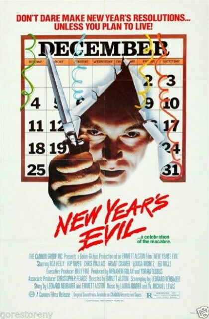 73593 NEW YEARS EVIL Movie Slasher eve VHS Decor Wall ...