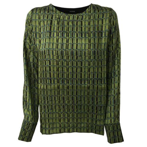 verde Made Bimateriale Donna Italy shirt Alpha In Nero Mod Studio Ad 9552c T wvqXOAUn