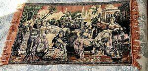 Vintage-Middle-Eastern-Arabian-Night-Velvet-Tapestry-Wall-Hanging-Rug-39-034
