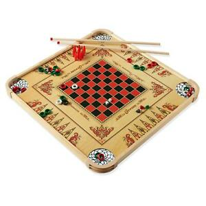 Large-Size-Wooden-Carrom-Board-Game-Double-sided-28-034-FUN-With-Family-And-Friends