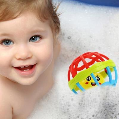 Baby Newborn Little Loud Jingle Rattle Rolling Ball Ring Bell Grasp Toy Cute LD