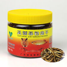 75g Dried Mealworms Bread Worm for Reptile Turtle Hamster Hamster Bird Fish Food