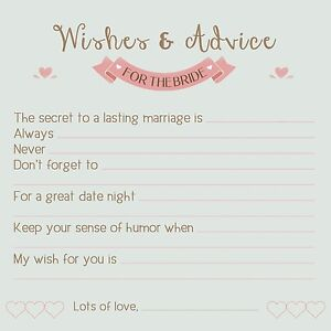 image is loading advice cards for the bride wedding amp bridal