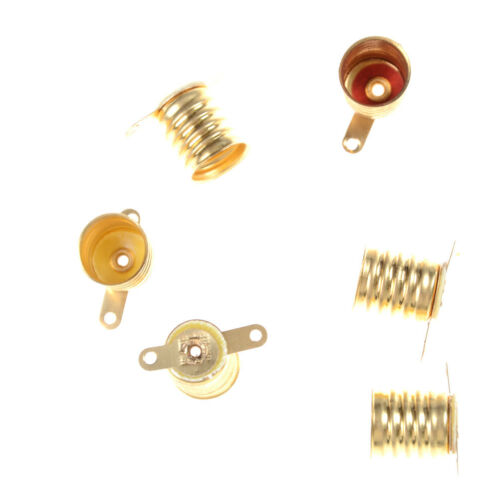5pcs//set E10 Straight Copper Light Bulb Screw Base PCB Socket Lamp Holder MAEKYF