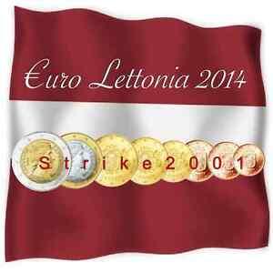 Euro LETTONIA 2014 - 8 monete FDC in Blister