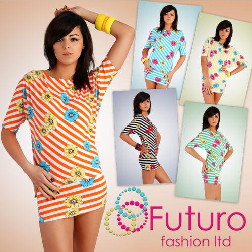 Unique Party Dress Flowers Tunic Style Kimono Boat Neck Batwing Size 8-12 HQ5057