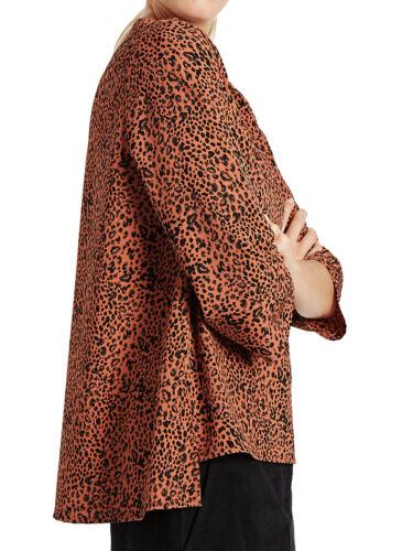 Womens M/&S Collection Debranded Vibrant Print Dip Hem 3//4 Sleeve Blouse 12-24