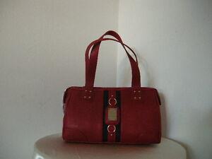 SALE-Authentic-Tommy-Hilfiger-Satchel-PVC-Red-Women-039-s-Satchel-Bag-Purse