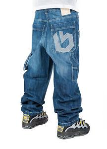 Dettagli su Jeans THEBLUESKIN skate rap pantaloni baggy Blueskin hip hop bsj16