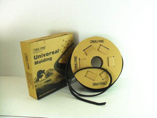 Flexline Windshield Auto Glass Universal Molding Flexible Trim Rubber 16mm 100FT