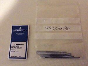 SCHMETZ DPx16LR135X16RTW CANU37:20AX1SIZE120//19 INDUSTRIAL SEWING MACHINE NEEDLE