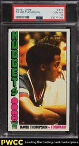 1976 Topps Basketball David Thompson ROOKIE RC #110 PSA 10 GEM MINT