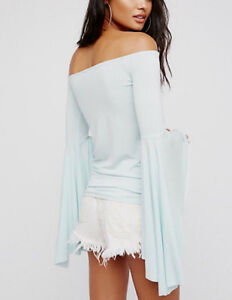 Free People OB606610 We The Free Birds Of Paradise Top Mint Green