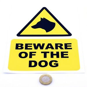 Beware-of-the-Dog-Printed-Vinyl-Sticker-Multiple-Sizes-Available