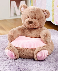 The Lakeside Collection Kids' Plush Animal Chairs - Pink Bear