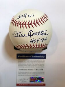 Steve Carlton Authentic Autographed Rawlings Official MLB Baseball