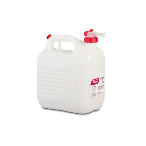 De agua alimentaria tanque con Hahn sin gluckern bidón 5l//5 litros de nuevo