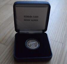 20 Latu Silver Salmon Latvia silver coin Lettland Silberlachs Silber Münze 2013
