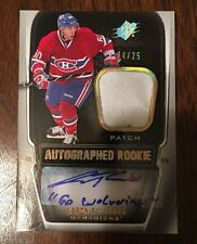 2011-12 SPx Spectrum #186 Aaron Palushaj Montreal Canadiens Patch Auto 4/25