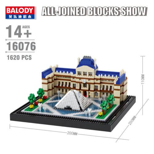 Balody Architecture Paris Louvre Museum Diamond Bausteine Blocks Spielzeueg Sets