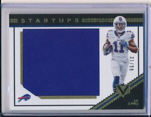 purchase cheap 640fe 25f41 Details about Zay Jones 2017 Panini Vertex Startups Jumbo Jersey Patch  Rookie RC #/D /99 SSP