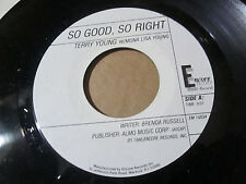 RARE MODERN SOUL 45 TERRY YOUNG REFLECTIONS SO GOOD SO RIGHT 80S ENCORE RECORDS