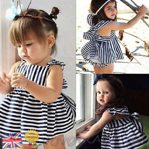 39a54d280662a Infant Baby Girls Dress Outfit Clothing Summer Sunsuit Backless ...