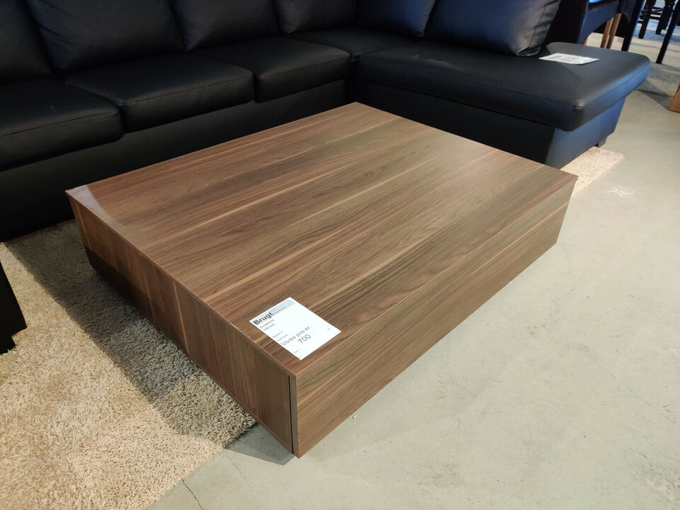 Sofabord med skuffe - valnød