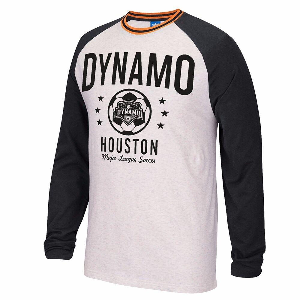 Houston Dynamo MLS Adidas Originals Team Classics Crew Men de manga larga Hombres