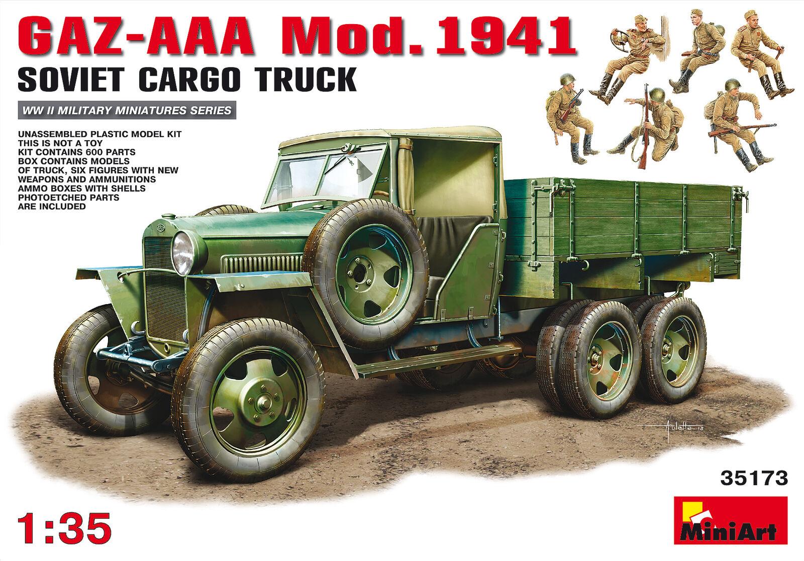 Envío y cambio gratis. Miniart 1 35 Gaz-Aaa Cochego Camion Mod. 1941    35173  aquí tiene la última