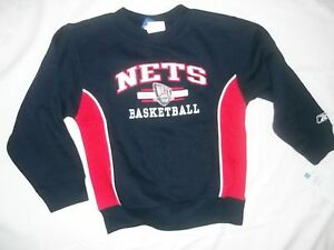 detailing accae f2ead Details about NWT BOYS NJ NEW JERSEY NETS SWEATSHIRT SHIRT SIZE M MEDIUM 5/6