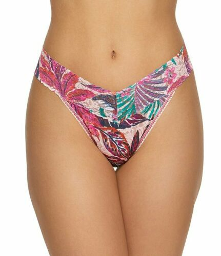 HANKY PANKY 4811 ORIGINAL RISE PATTERNS Signature Lace Thong  OS NWT MSRP $25