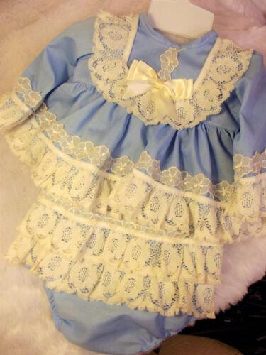 Dream 0-5 anni cielo blu e crema SPAGNOLA Corto Top Jam PANTALONE o Bambole Reborn