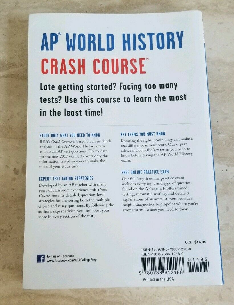 AP World History Crash Course 2nd Edition 9780738612188 updated 2017 Jay  Harmon