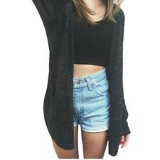 Women Long Sleeve Knitted Cardigan Loose Sweater Outwear Jacket Coat Sweater