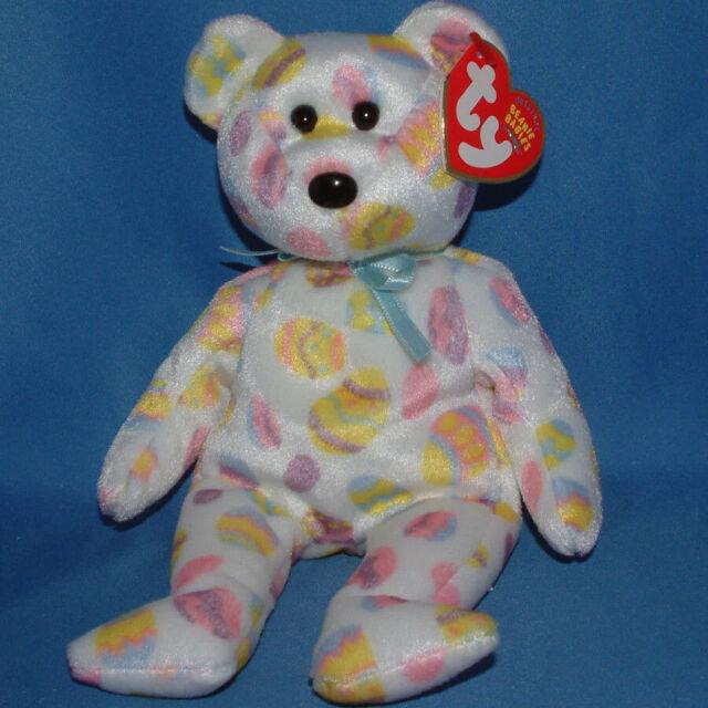 903e923ddf9 Ty Original Beanie Babies Baby Eggs 2004 Retired 2003 Easter Teddy Bear 3
