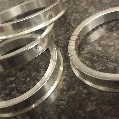4 x de Aluminio Metal Espita Anillos 72.6-66.1 Anillos de centrado en el espaciador Hub