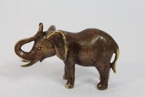 Skulptur-Figur-Bronze-teilpoliert-Elefant