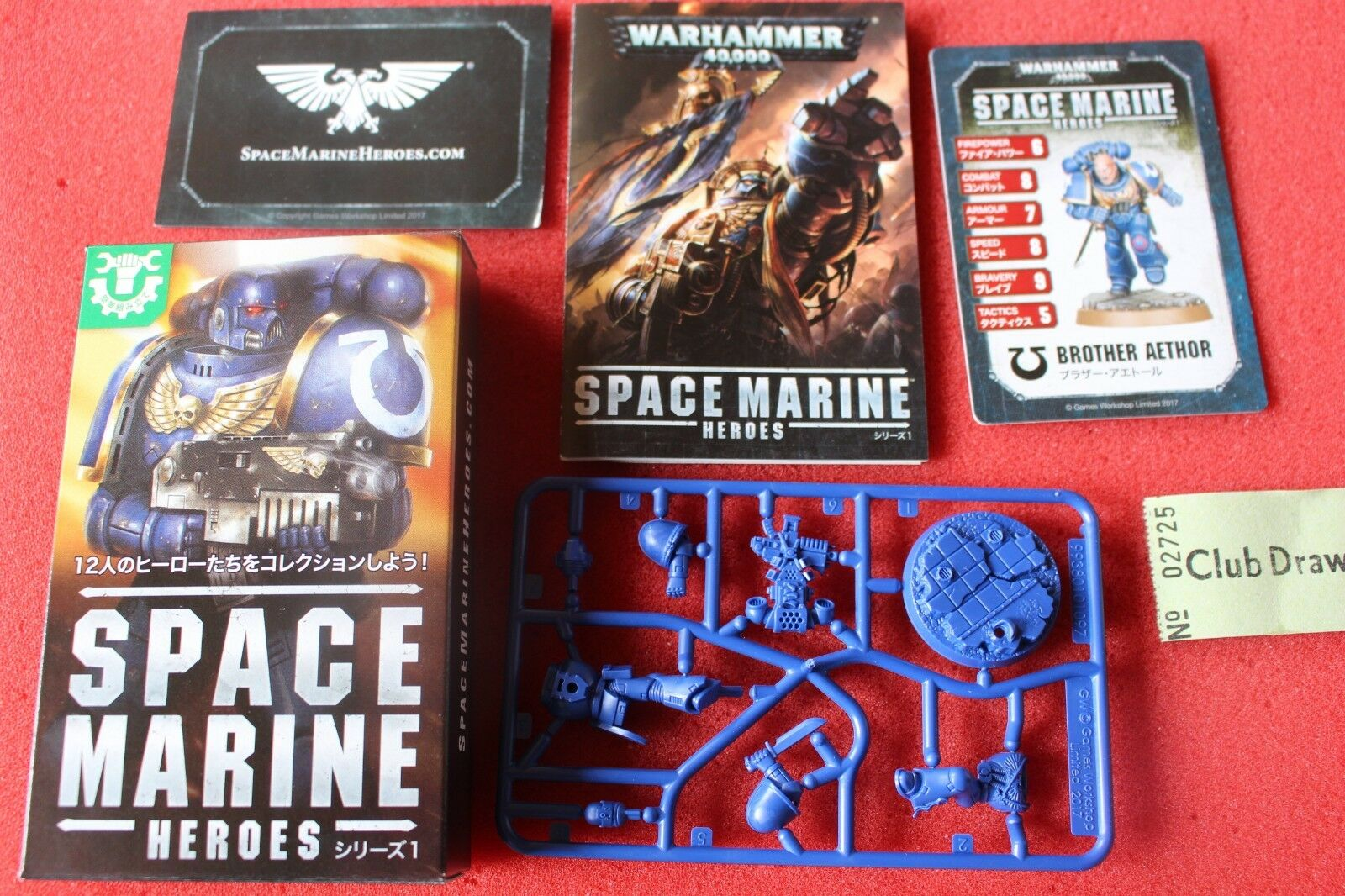 Space Marine héros frère aethor Japan Exclusive Games  Workshop NEUF Marines GW  magnifique