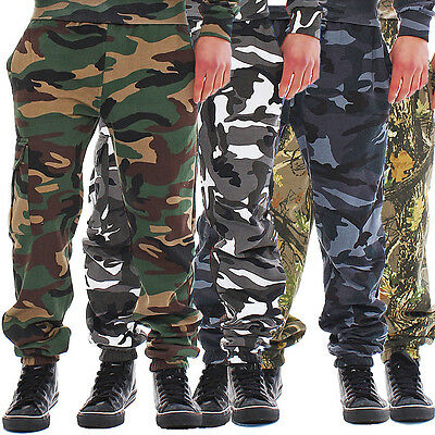 Game Cargo Jogginghose Fleece Sweatpant Fitness Camouflage Camo Neu