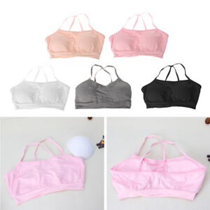 b61a5f895b Soft Cotton Bra for Young Kids Girls Underwear Training Puberty Bras ...