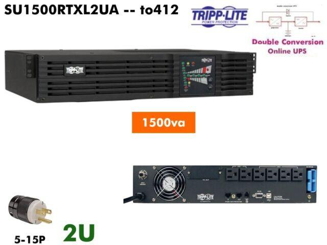 to412~ Tripplite Online UPS 1500va UPS 120v SU1500RTXL2UA #NewBatts